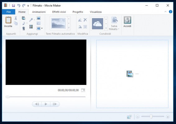 Ripristinare Movie Maker Windows 10