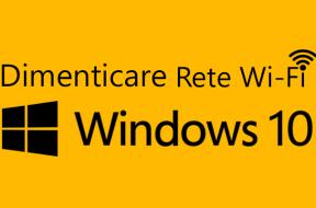 Dimenticare Rete WiFi Windows 10