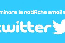 eliminare notifiche email twitter