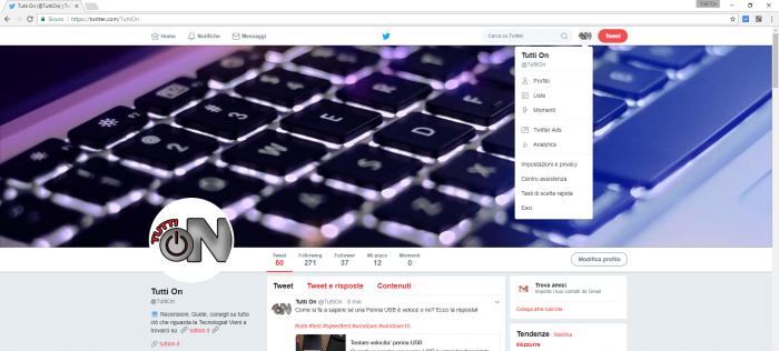 cambiare password twitter - 1
