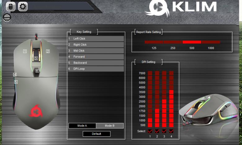 recensione Klim Mouse AIM schermata