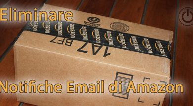 Eliminare le notifiche email di Amazon