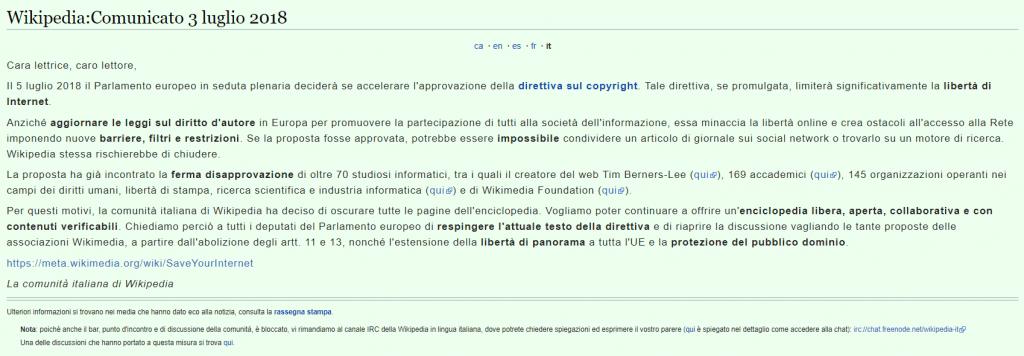 Wikipedia oscurato. Cosa sta accadendo?