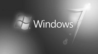 Logo Windows 7 in bianco e nero – Fine del supporto a Windows 7 da gennaio 2020